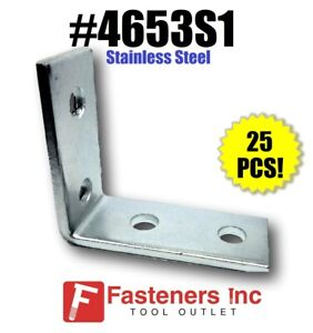 Details about 4653S1 P1325 Stainless Steel 4 Hole 90° Corner Angle 4  Unistrut Channel QTY  25