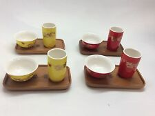 4 Set Chinese Dragon Tasting And Aroma Tea Cup With Bamboo Coaster