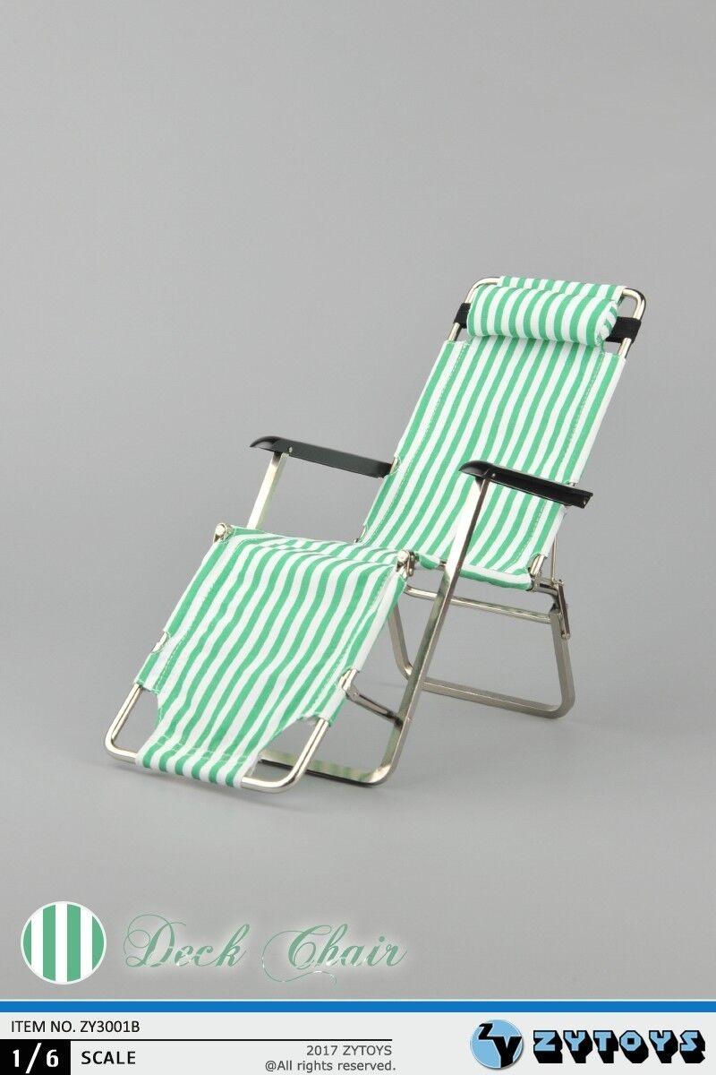 ZYTOYS ZY3001B 1 6 Scale Beach Chair Folding Chair Green Desk Chair Sofa Toys