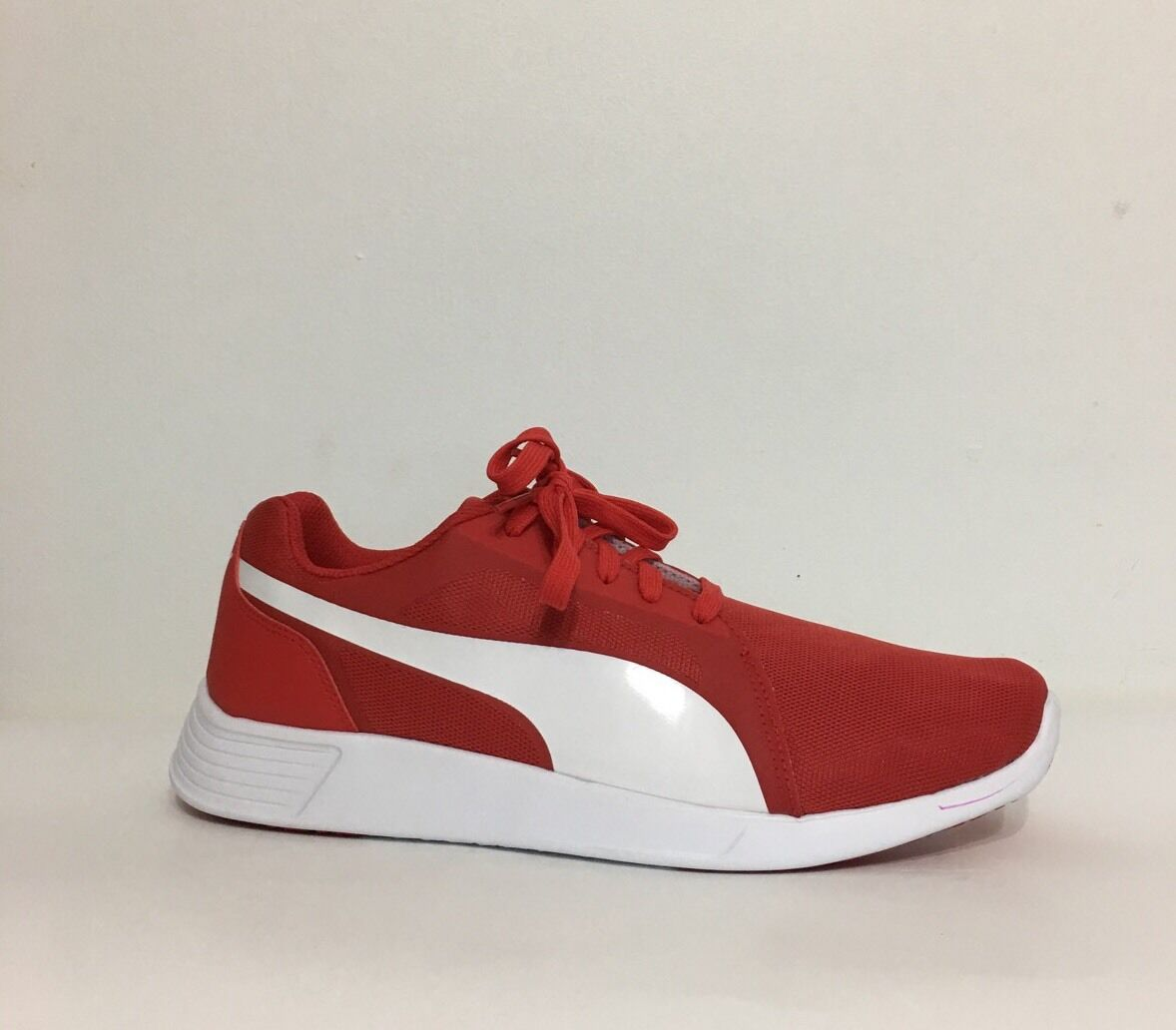 Nwob Puma St Trainer Evo Men Textile Red white Sneakers Size 12 Lace Up