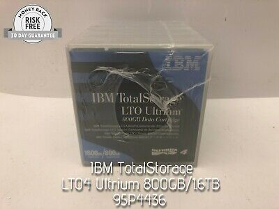 IBM 95P4436 LTO4 ULTRIUM 800GB 1.6TB LTO-4 TAPES 5 PACK NEW