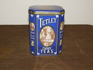 "VINTAGE KITCHEN 7 1/4"" HIGH 1837-1987 TETLEY TEAS TIN CAN *EMPTY*"