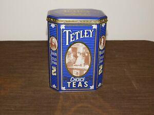 """VINTAGE KITCHEN 7 1/4"""" HIGH 1837-1987 TETLEY TEAS TIN CAN *EMPTY*"""