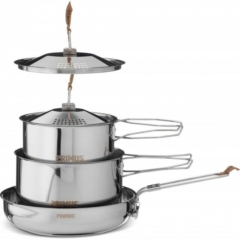 Primus Campfire Stainless Steel 3 Piece Cook Set - Large Size