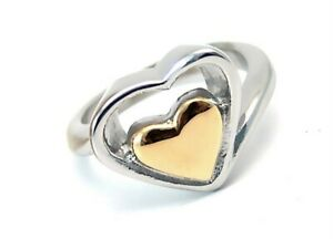 Yellow-Gold-PVD-Heart-Ring-Stainless-Surgical-Steel-Hypoallergenic-Size-5-6-7-8