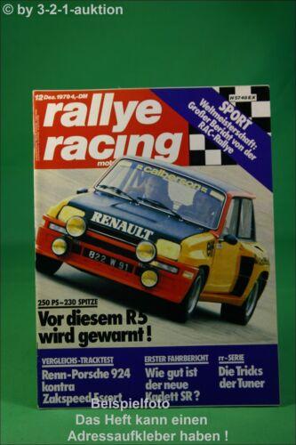 Rallye Racing 12//79 Renault R5Turbo Porsche 928S RX7 Poster