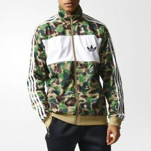 sale retailer 89f05 69eb3 Details about Adidas Originals Bape Bathing Ape Green Camo Camouflage  Jacket Track Top Army