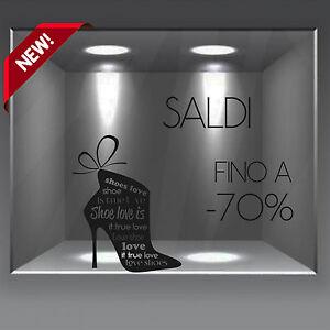 Caricamento dell immagine in corso vetrofanie-vetrine-wall-stickers-vetrine- sconti-saldi-scarpe- e9cf6c5a831