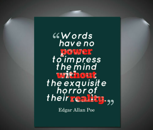 A1 A2 A4 sizes A3 Edgar Allen Poe Famous Quote Art Poster
