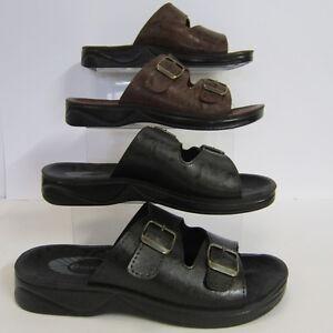 Uomo SANDOS Neromarrone sandali con fibbia p51103