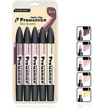Letraset Promarker 5 Marker Pen Set-SET 4- Skin Accents