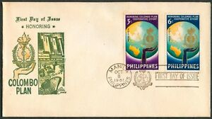 Philippine-1961-Honoring-The-COLOMBO-PLAN-FDC