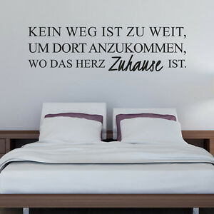 Wandtattoo-Kein-Weg-Zuhause-Spruch-Aufkleber-Wandaufkleber-Wand-Tattoo-2134