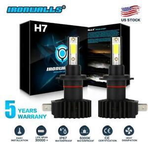 IRONWALLS-H7-LED-Headlight-Kit-2200W-330000LM-HI-LO-Beam-Bulb-6000K-Lamp-White