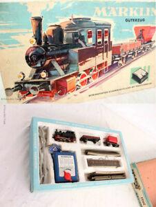 Selten! MÄRKLIN Güterzug 2933 in Originalverpackung! Lokomotive, 2 Güterwagons