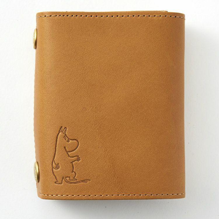 [Moomin] TIDEWAY BOOK WALLET (Moomin) Cow leather MADE IN JAPAN