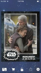 Topps-Star-Wars-Digital-Card-Trader-Leia-Organa-amp-Han-Monument-Insert-Award