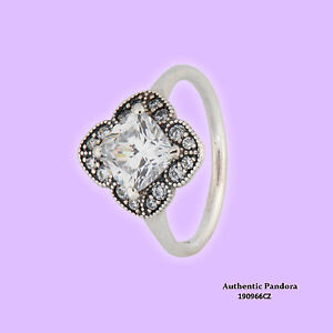 d3562aa9f6388 Details about Authentic PANDORA Ring Crystalized Floral Fancy 190966CZ