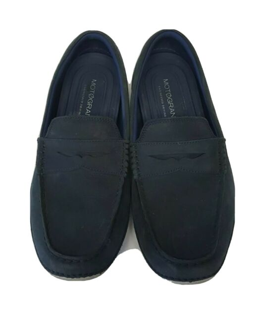 Cole Haan Motogrand Blue Suede Men's Driving Penny Loafers ...