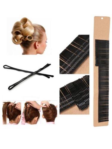 Black Hair Grips Hair Pins 4 Cm Medium Kirby Grips 60  Bob Pin