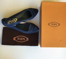 BNIB Tods Womens Ballerina Moccasin Shoes Loafers Flats Size 39 US Size 8.5