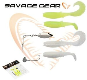 Savage-Gear-CANNIBAL-SHAD-KIT-SPINNERBAIT-Lure-Fishing-Soft-Plastic-Bait-Jig-lrf