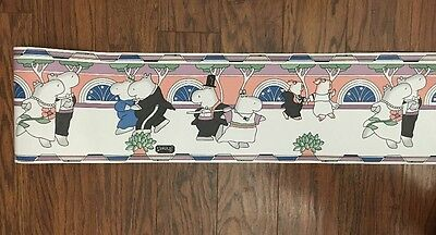 RARE New Roll SANDRA BOYNTON Ballroom Dancing Wallpaper Border 5 Yds BY424B