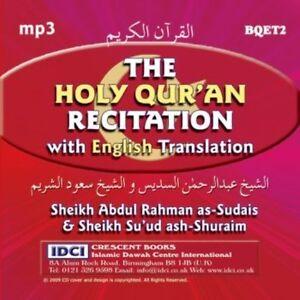 Details about Sheikh Sudais and Sheikh Shuraim - MP3 Quran CD with English  Translation x 2