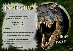 5 ou 12 cartes invitation anniversaire dinosaure t rex ref 390 ebay. Black Bedroom Furniture Sets. Home Design Ideas