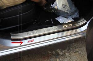 sti sports car door sill scuff plate guard sills for subaru xv crosstrek 2013 15. Black Bedroom Furniture Sets. Home Design Ideas