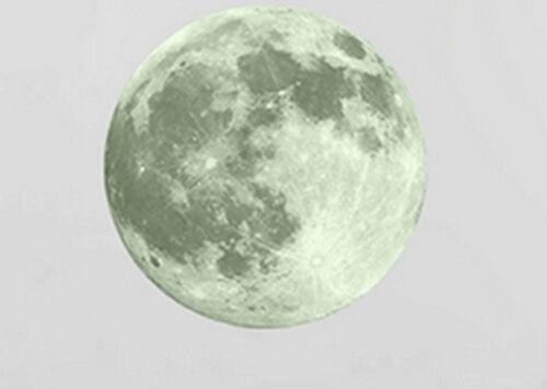 Env 30 cm Mural Déco Autocollant lune pleine lune décoration vif
