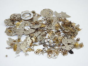 25g-STEAMPUNK-watch-parts-JEWELLERY-ALTERED-CRAFTS-ART-CYBERPUNK-COGS-GEARS