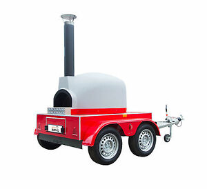 Image Is Loading MOBILE WOOD FIRED PIZZA OVEN TRAILER CATERING