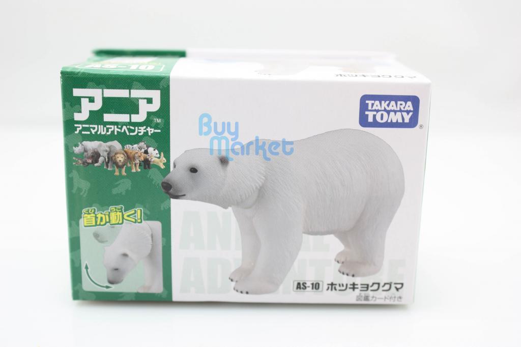 Takara Tomy Ania AS-10 Animal Oso Polar Mini Figura De Acción Juguete Educativo Juguetes