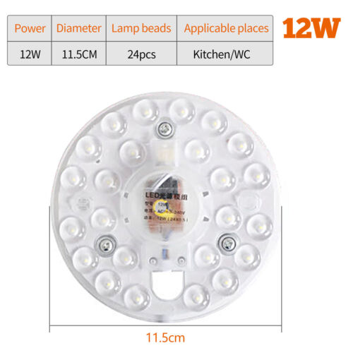 Square Round plate LED module 12w 18w 24w Replace Ceiling lamp light retrofit