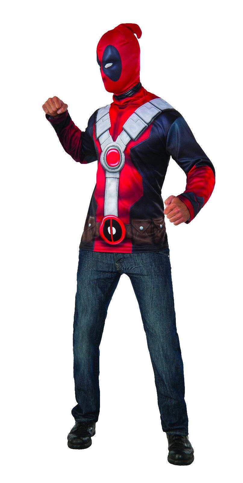 Deadpool Adult Shirt and Mask Costume