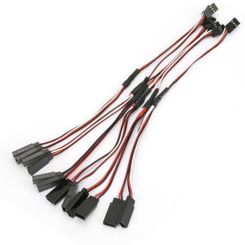 FUTABA 6PCS Y Form RC Zubehör Vergoldete Terminal Extension Servo Wire für JR