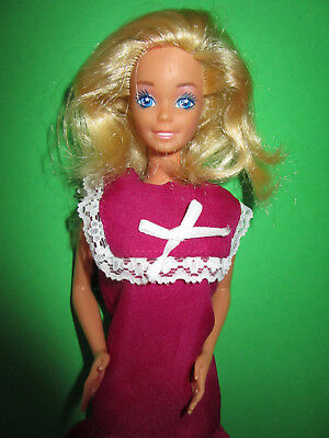 Amabile B776) Vecchi Bionda Barbie Mattel Originales Barbie-abito Con Etichetta + Pilgrim-scarpe-schuhe It-it Mostra Il Titolo Originale