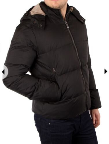 Hood Bnwt Down Detchable Men's Winter 150 Auth Black Xl Guess Rrp Jacket Hooded Yx7OY