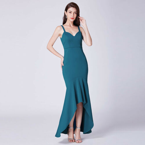 Ever-Pretty US Mermaid Cocktail Dress Bodycon V Neck High-Low Formal Gown 07374