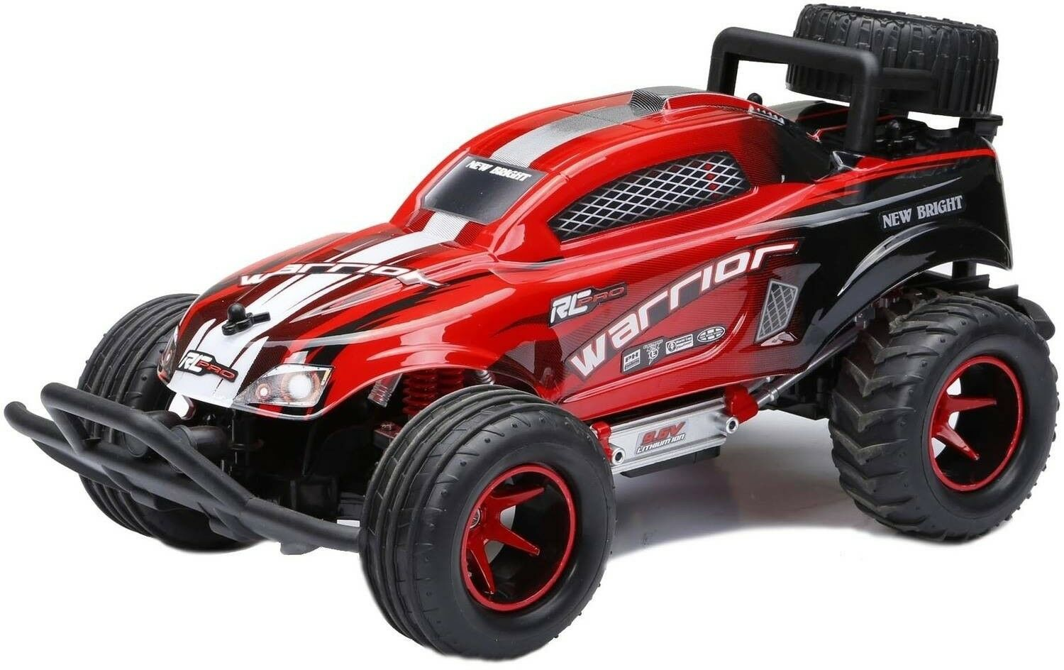 1:16 RC Full-Function Off Road 9.6V Remote Control Power Kids Quad Car Toy rosso