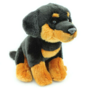 Faithful-Friends-Rottweiler-Dog-24cm-Soft-Plush-Stuffed-Cuddly-Animal-Toy-NEW