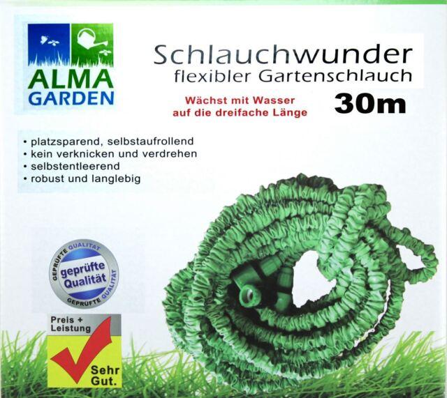 Flexibler Wasserschlauch 30 m Schlauch Flexi Hose Gartenschlauch Magic+Brause