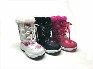 New Toddler Girl/'s Fashion Winter Snow Boots Size 6-11