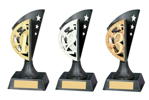 Blaze 1st 2nd and 3rd Place Trophies Awards 150mm high FREE Engraving