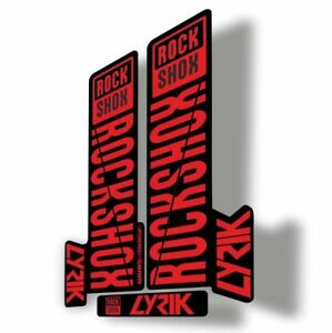 Rock Shox Pike 2018 Mountain Bike Cycling Decal Kit Sticker Adhesive Red