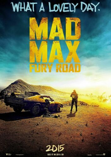 Mad Max Poster Fury Road Tom Hardy  A5 A4 A3 A2