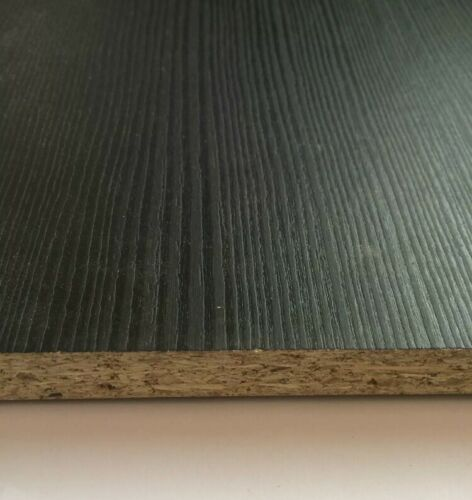 Black Ash Melamine 730mm x 533mm x 15mm edged all round inc delivery