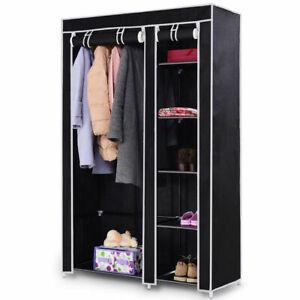 69-034-Portable-Closet-Storage-Organizer-Clothes-Wardrobe-Shoe-Rack-W-6-Shelf-Black