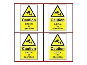 CCTV Camera Signs x 4-200 x 300mm A4 Security Camera Warning Signs
